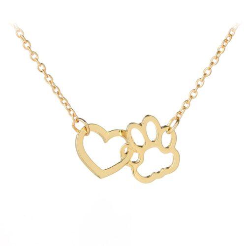 Mancs-szív nyaklánc - arany