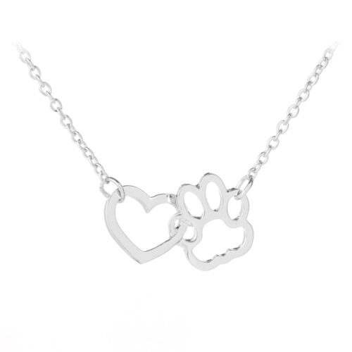 Mancs-szív nyaklánc - ezüst